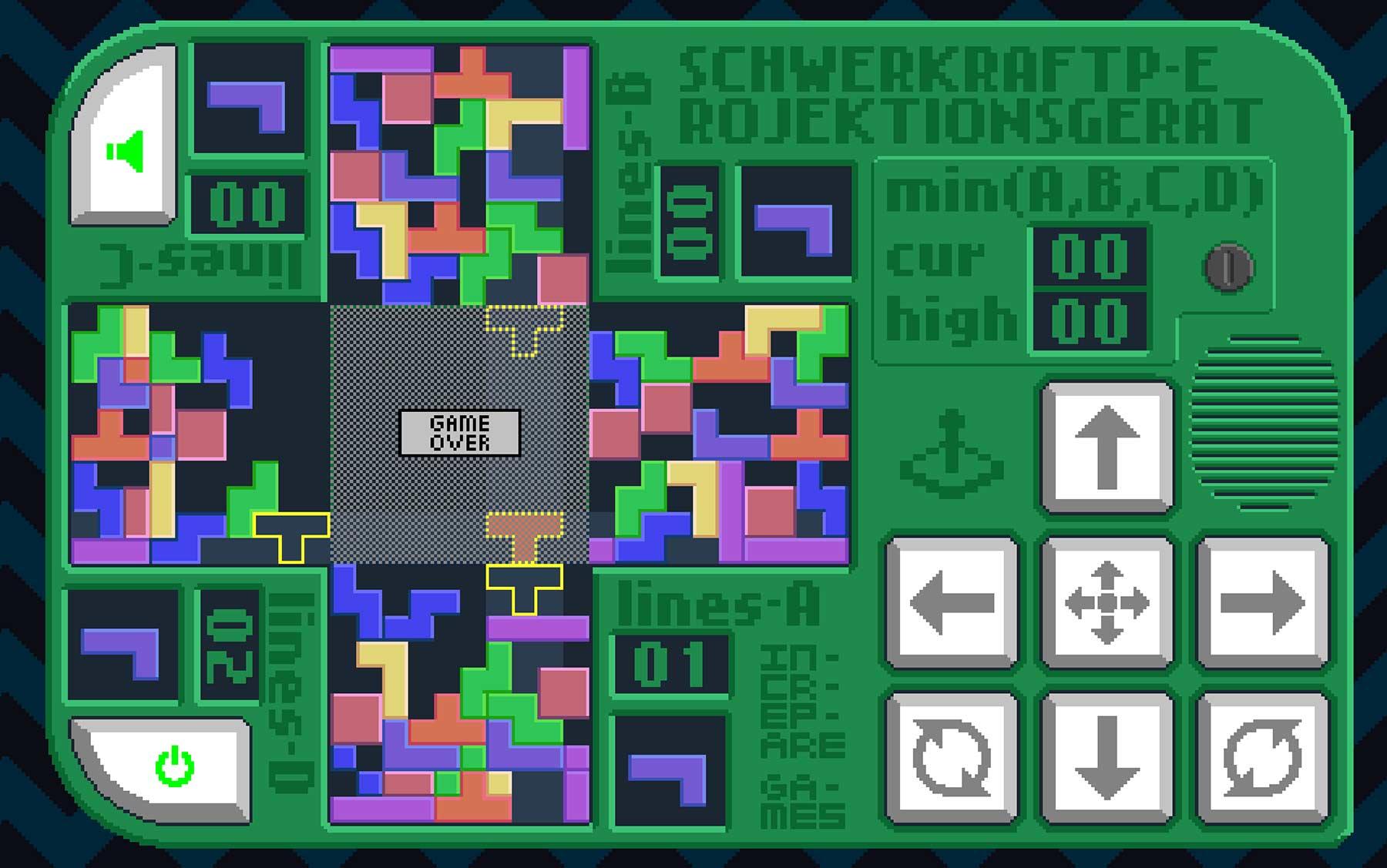 """Gleichzeitig vierfach """"Tetris"""" spielen vierfachtetris-schwerkraftprojektionsgeraet_02"""
