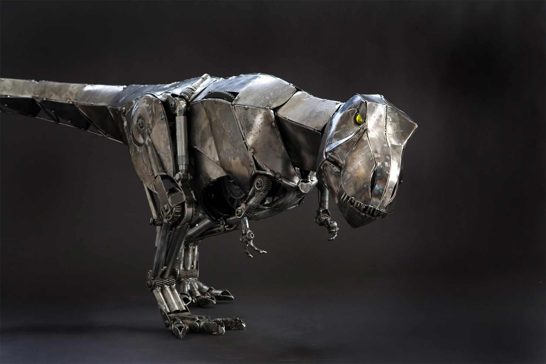 Tierskulpturen aus Metall von Andrew Chase