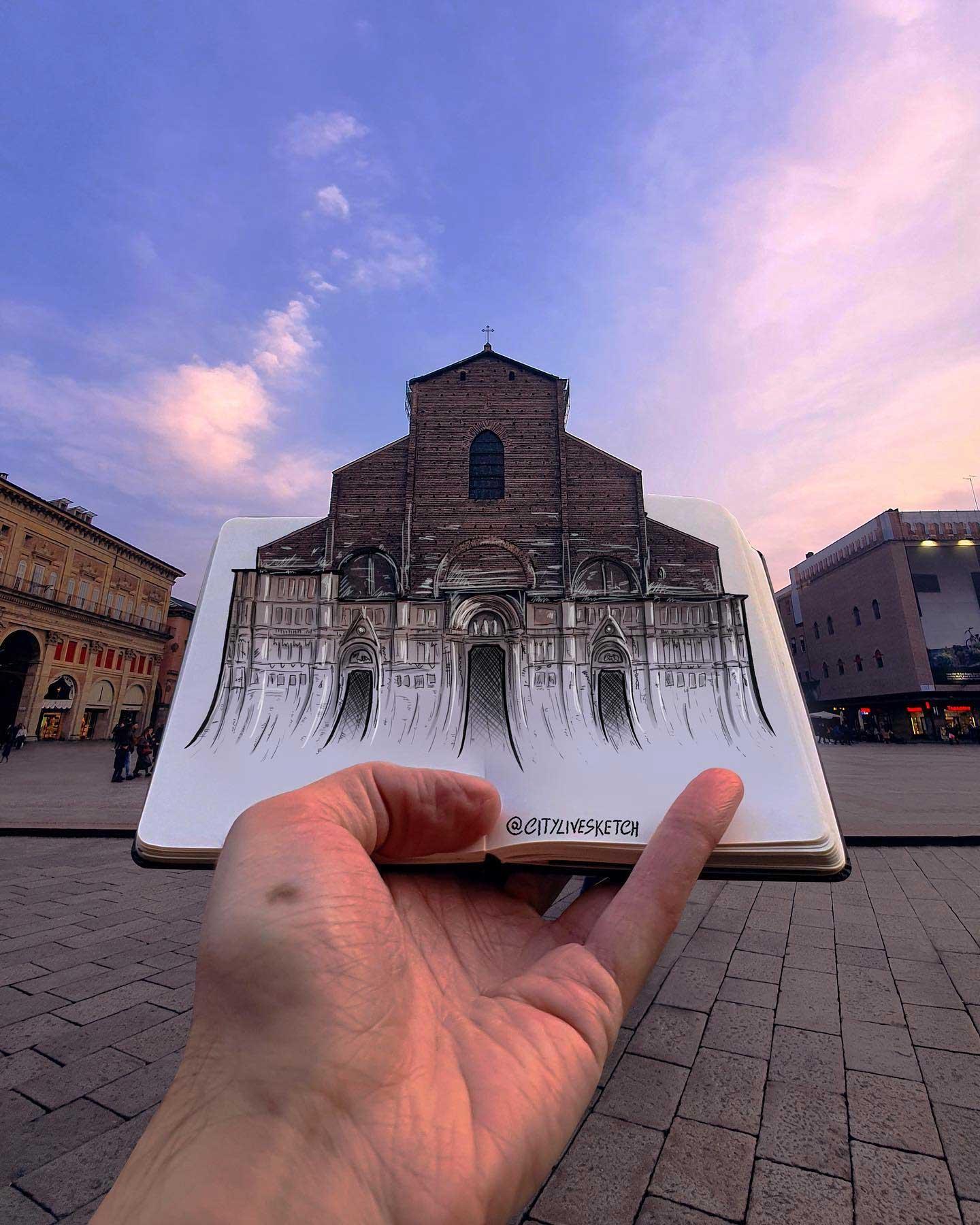 Pietro Cataudella lässt Zeichnungen mit der Realität verschmelzen CityLiveSketch-Pietro-Cataudella_02