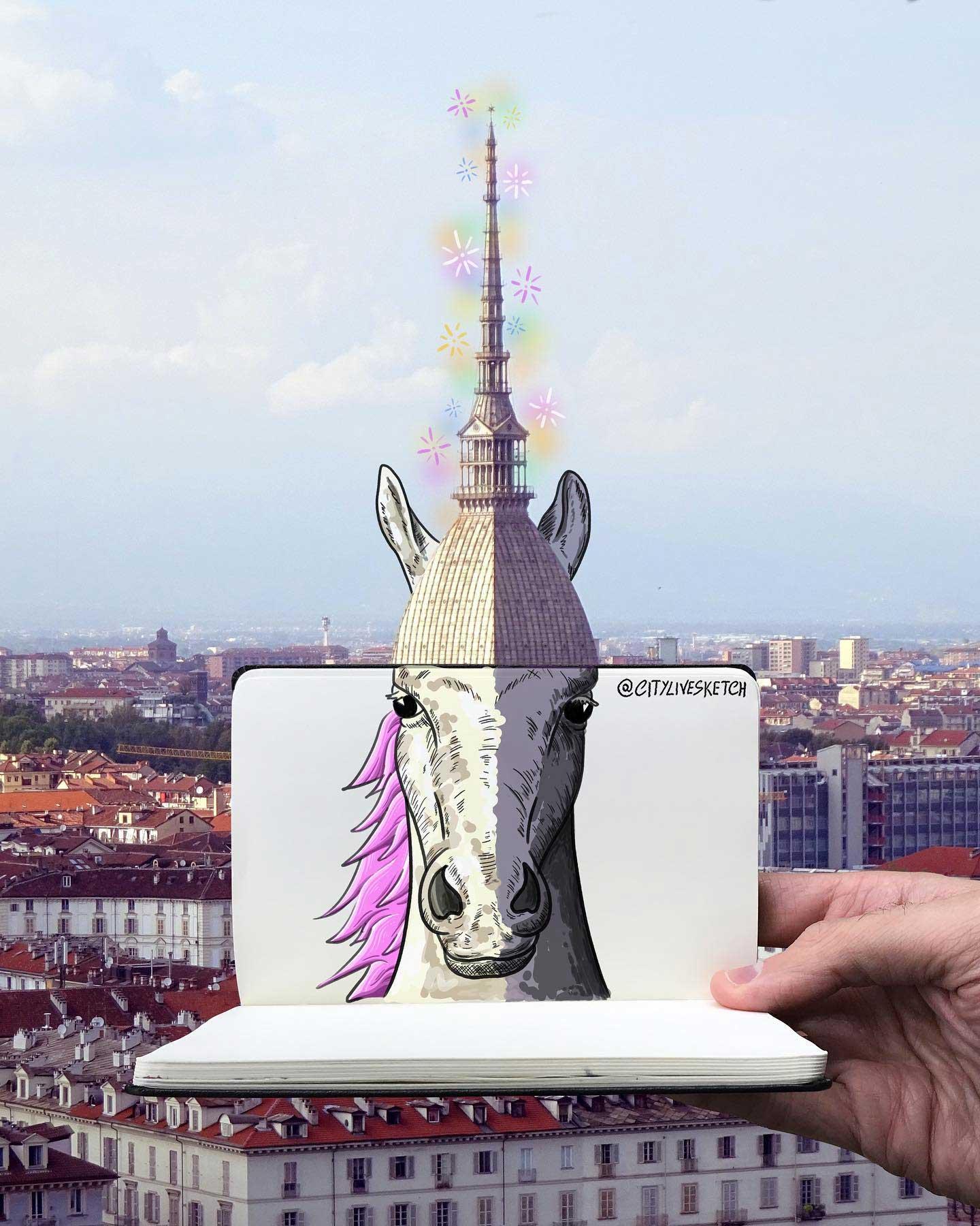 Pietro Cataudella lässt Zeichnungen mit der Realität verschmelzen CityLiveSketch-Pietro-Cataudella_04