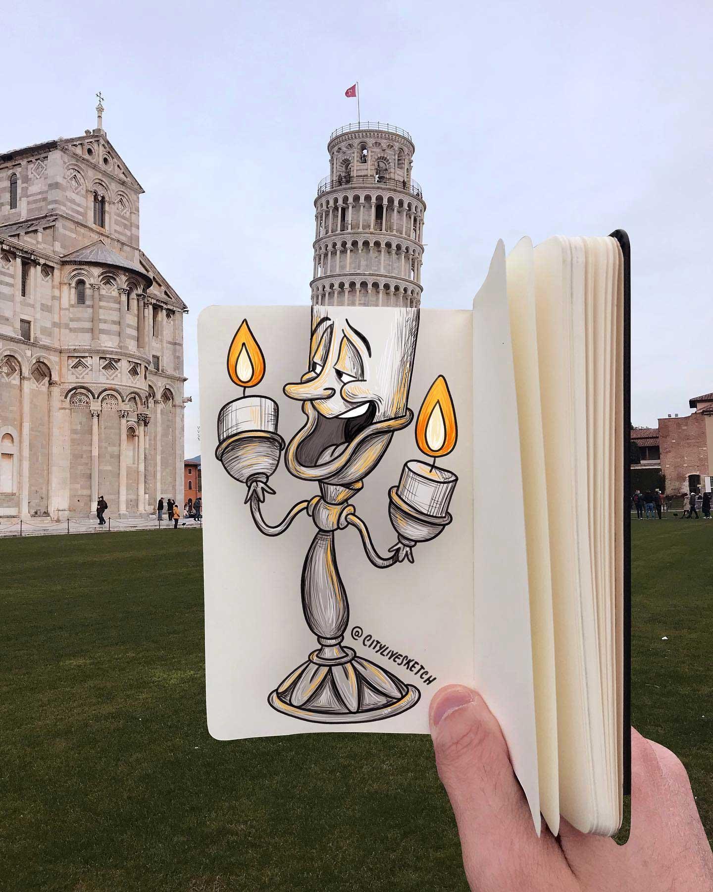 Pietro Cataudella lässt Zeichnungen mit der Realität verschmelzen CityLiveSketch-Pietro-Cataudella_06