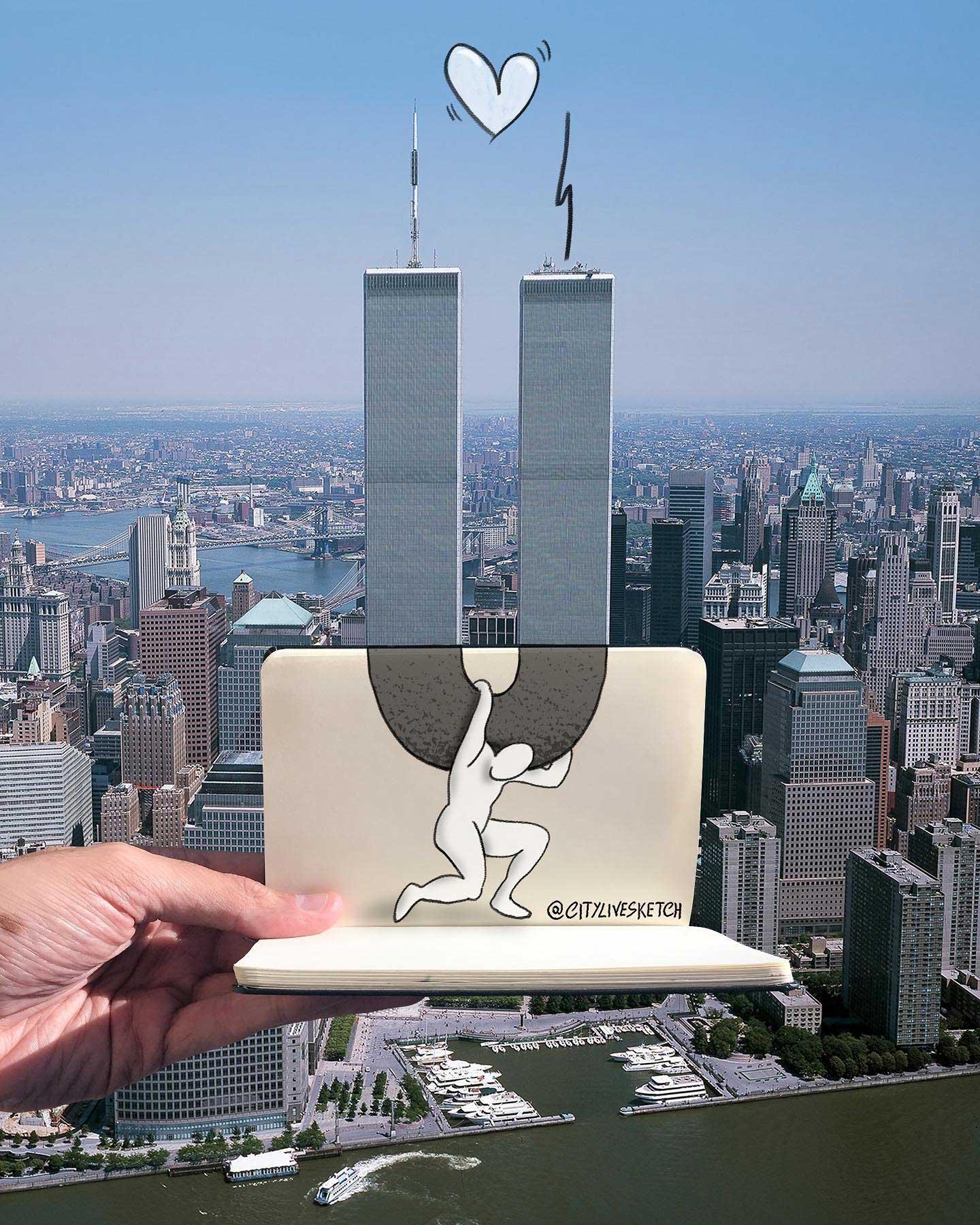 Pietro Cataudella lässt Zeichnungen mit der Realität verschmelzen CityLiveSketch-Pietro-Cataudella_09