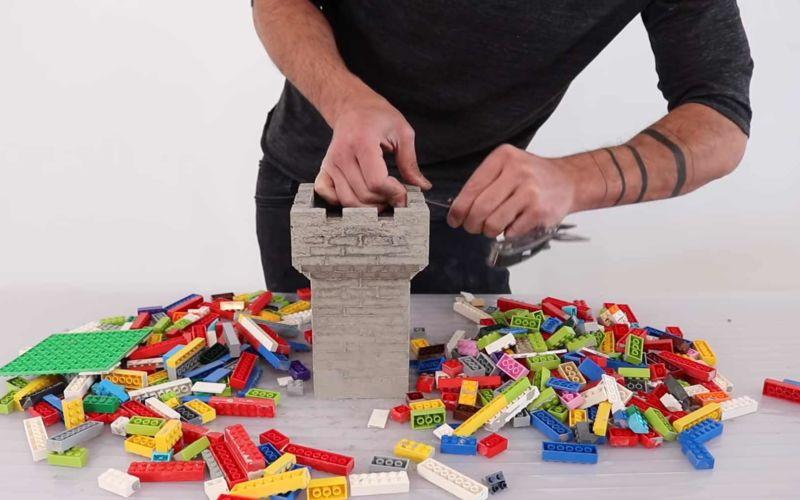 LEGO-Steine als Gußteile für Betonformen nutzen