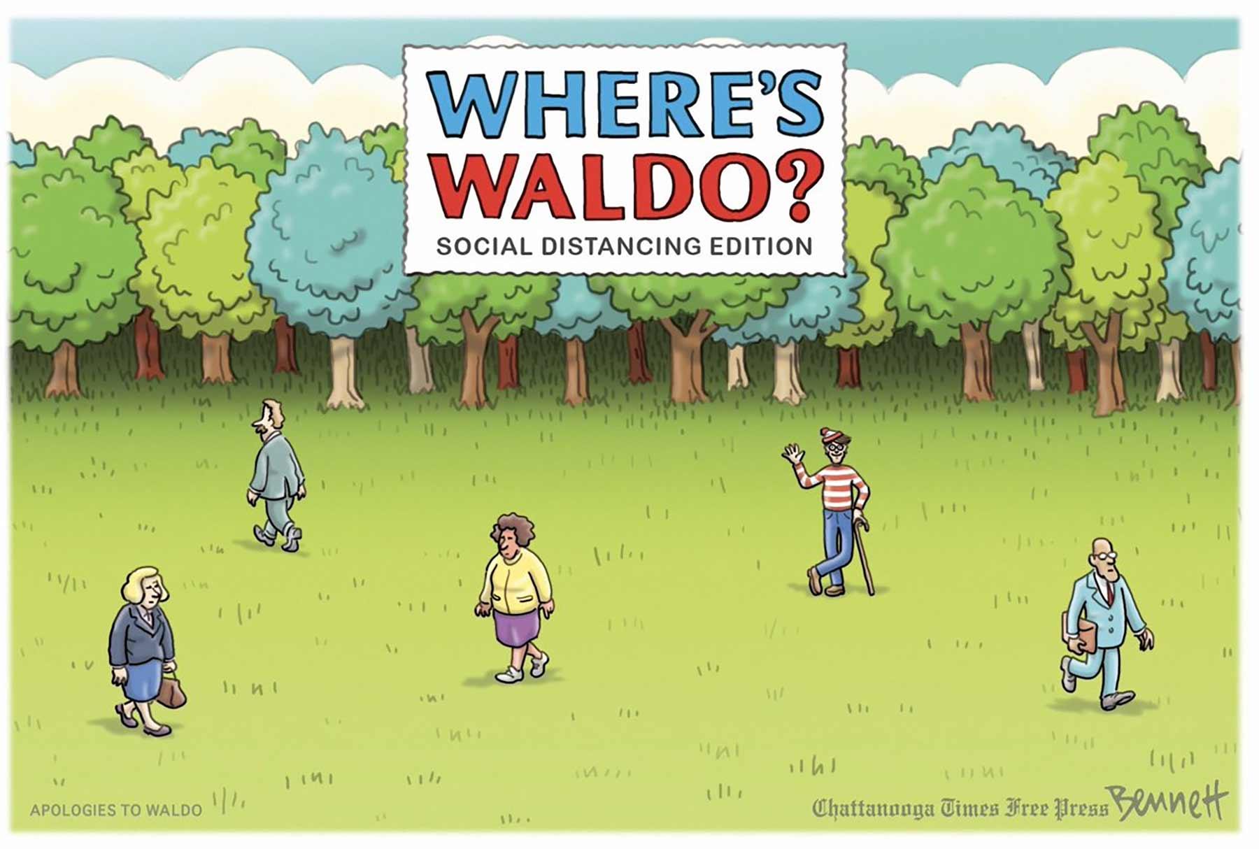 """Wo ist Walter?"" in der Coronavirus-Edition"