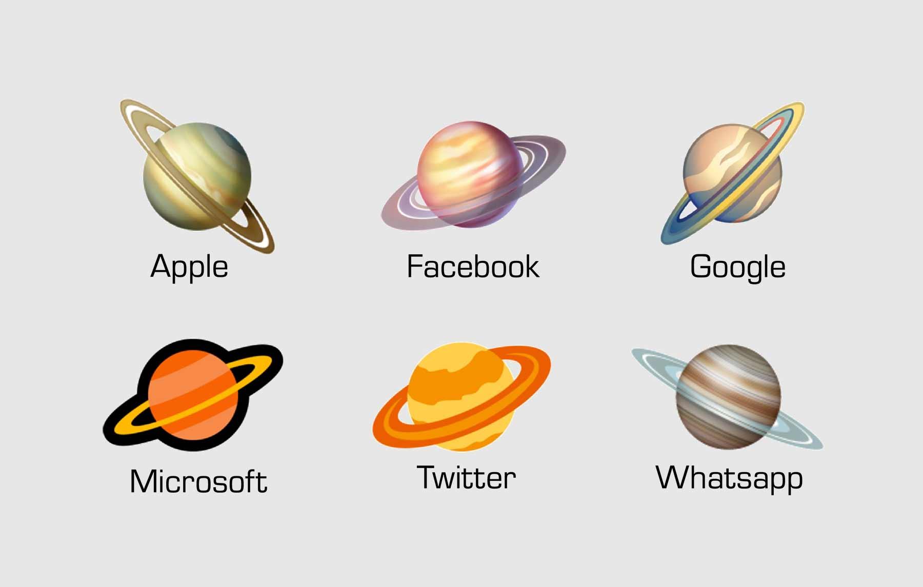 🪐-Analyse: Wie wissenschaftlich korrekt sind die diversen Saturn- und Mond-Emojis?