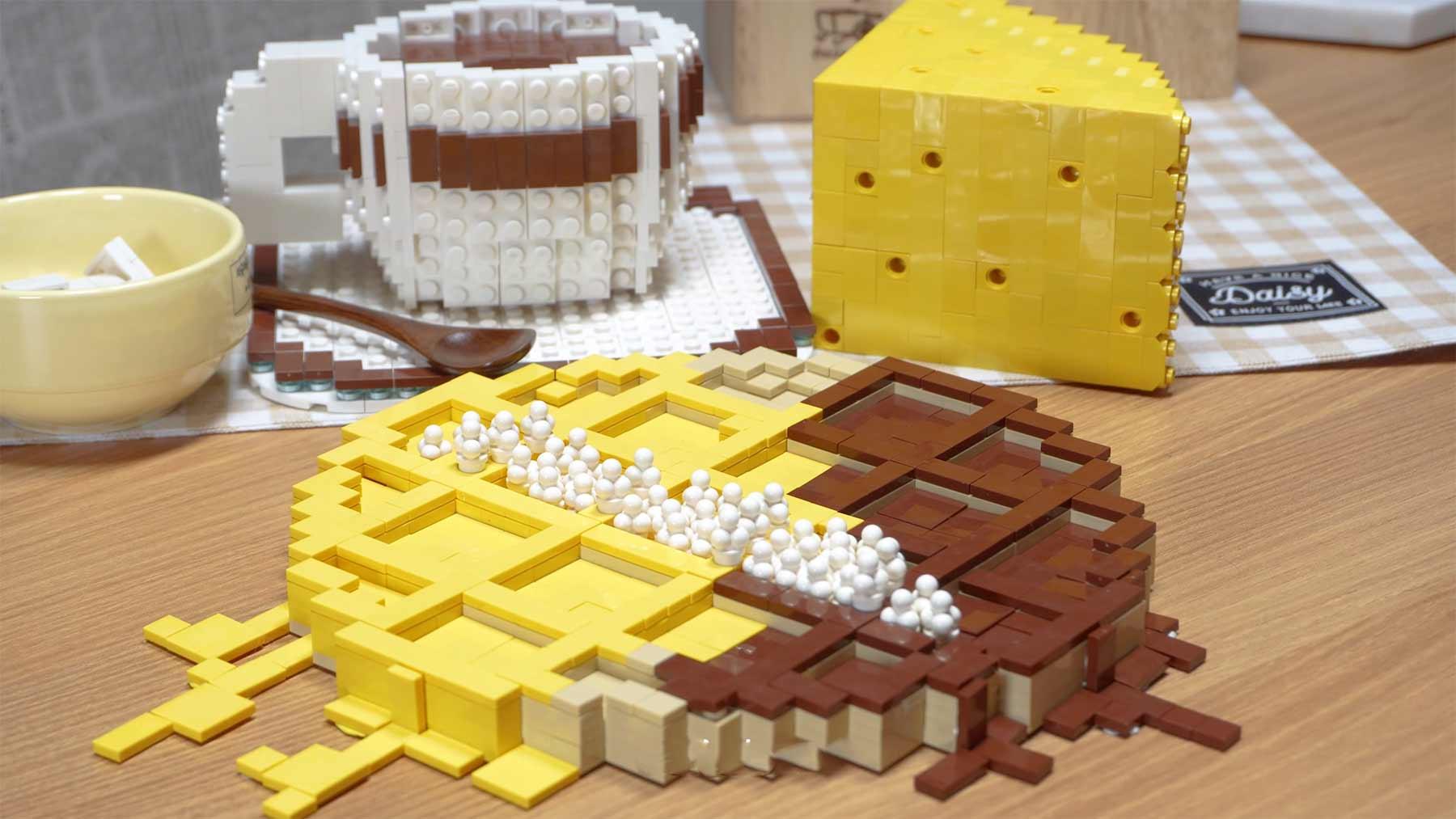 Stopmotion: Kaffee und Waffelzubereitung aus LEGO-Steinen