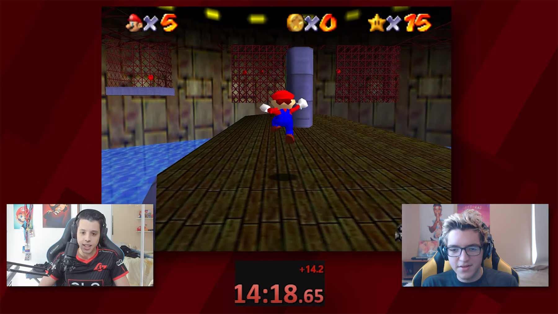 """Pro-Speedrunner kommentieren einen """"Mario 64""""-Speedrun"""