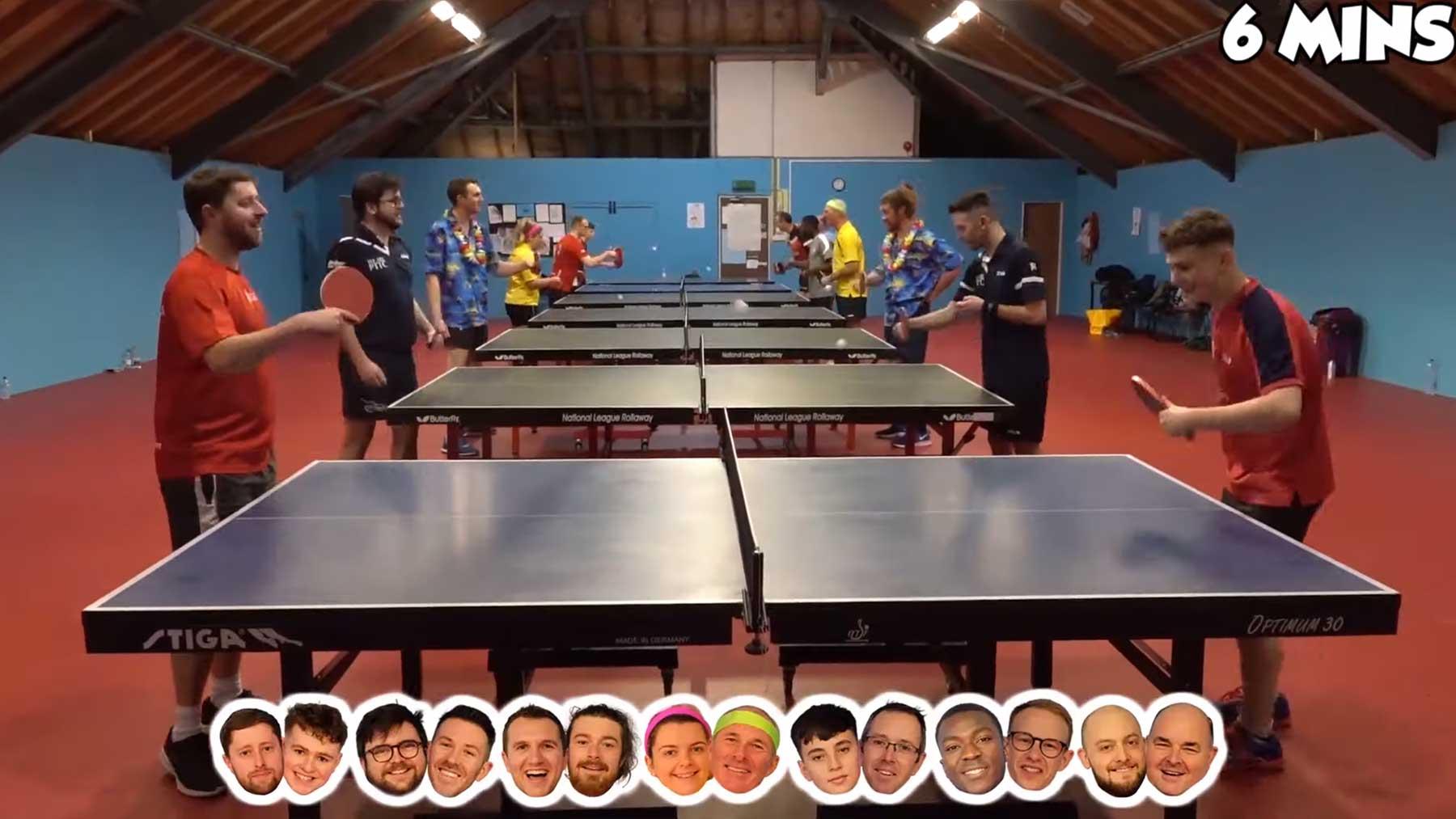 Tischtennis-Team mit längstem Ballwechsel gewinnt 1.000 Pfund