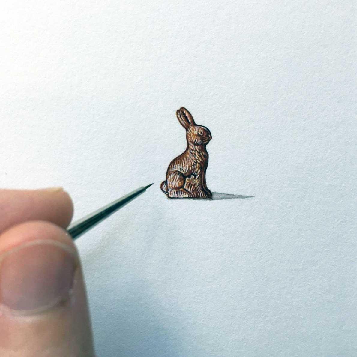 Miniatur-Gemälde von Brooke Rothshank