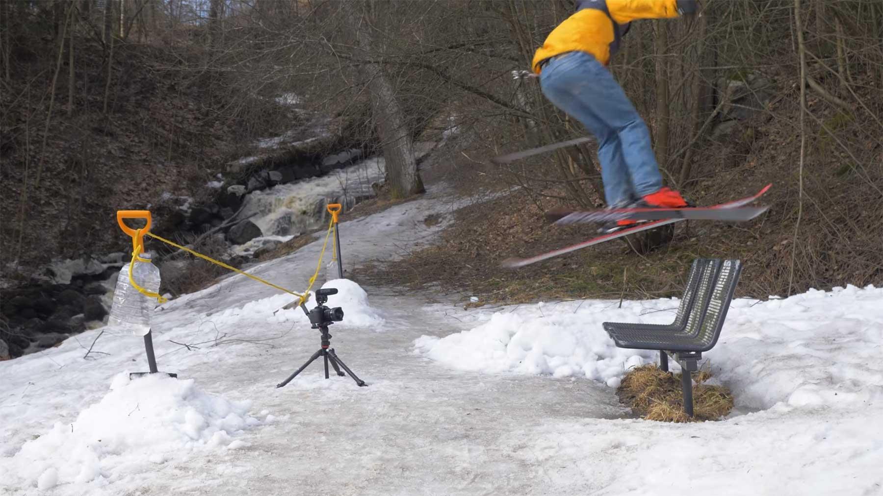 Social Distancing Skiing