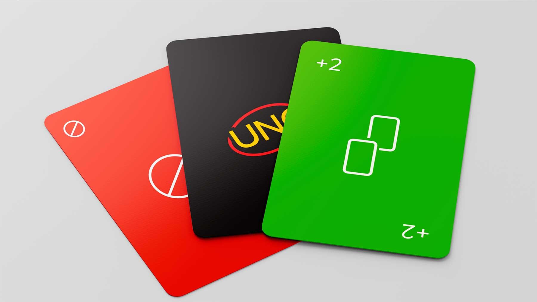 """Minimalistisches """"UNO""""-Kartendeck"""