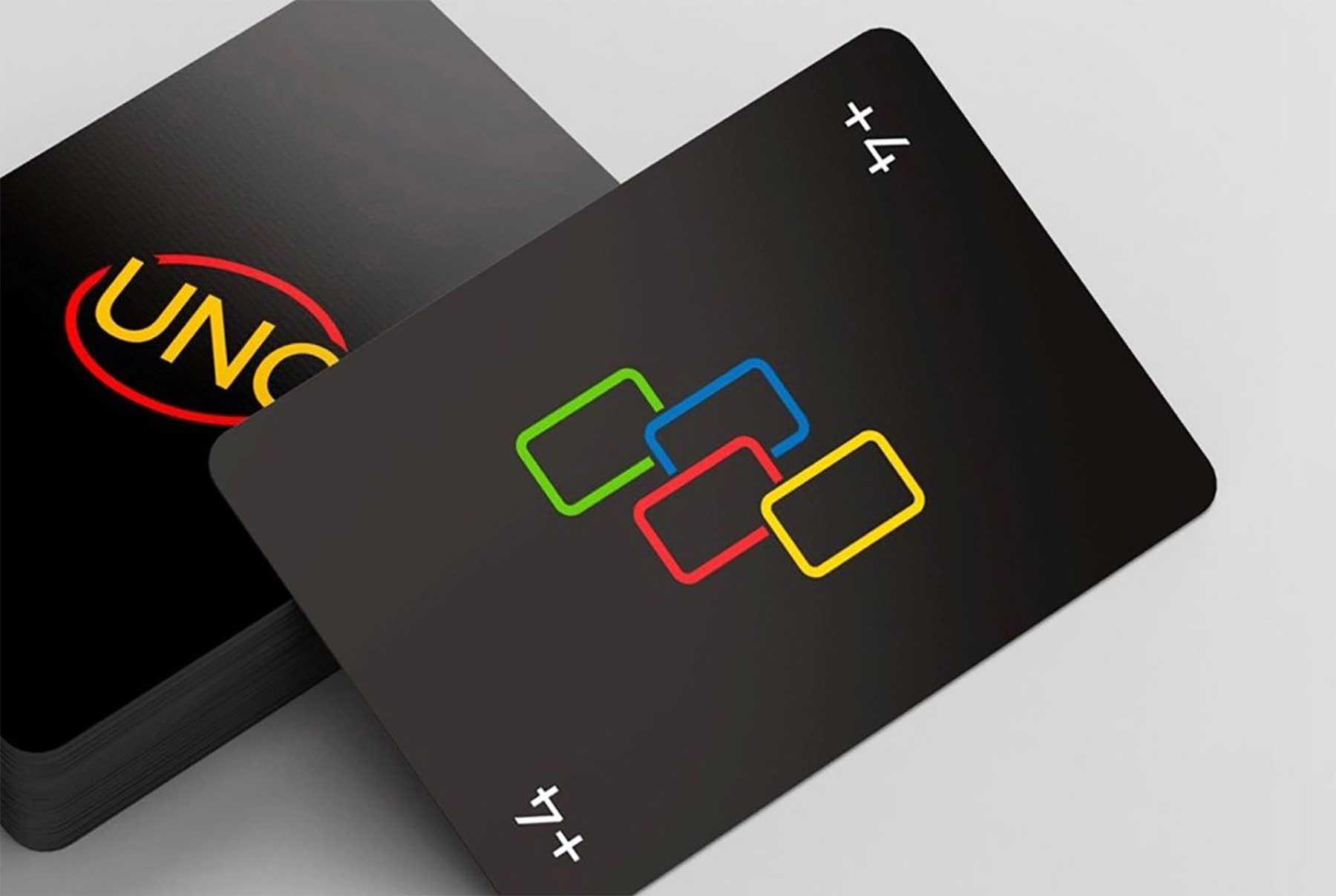 """Minimalistisches """"UNO""""-Kartendeck UNO-minimalista-reduziertes-design_01"""