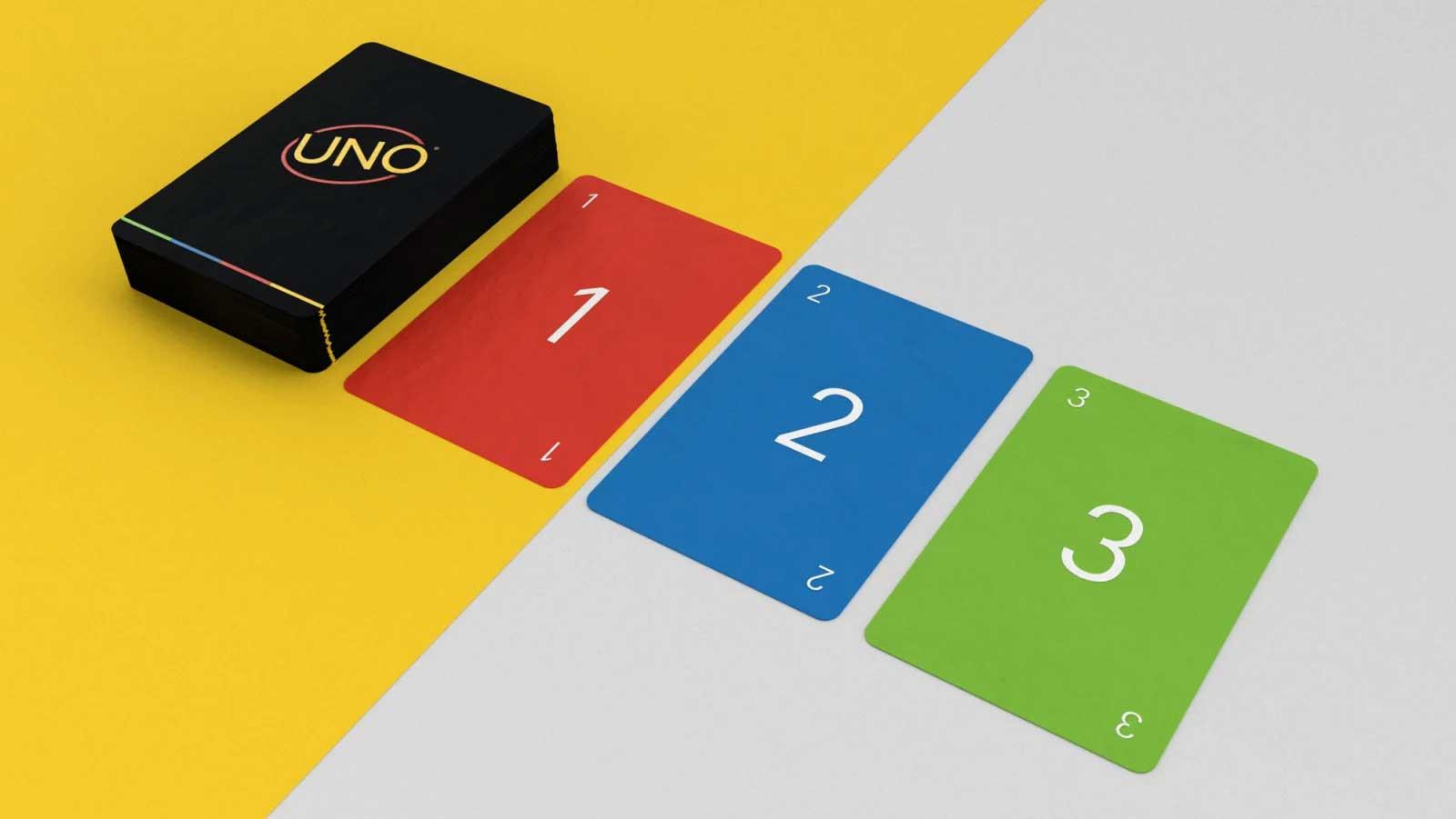 """Minimalistisches """"UNO""""-Kartendeck UNO-minimalista-reduziertes-design_02"""