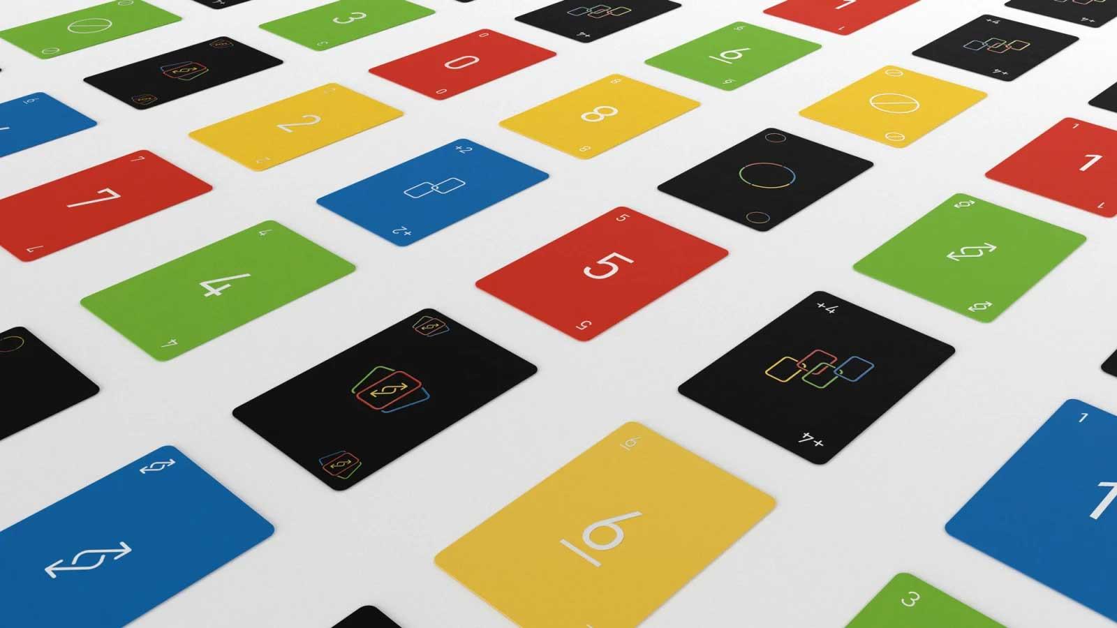 """Minimalistisches """"UNO""""-Kartendeck UNO-minimalista-reduziertes-design_03"""