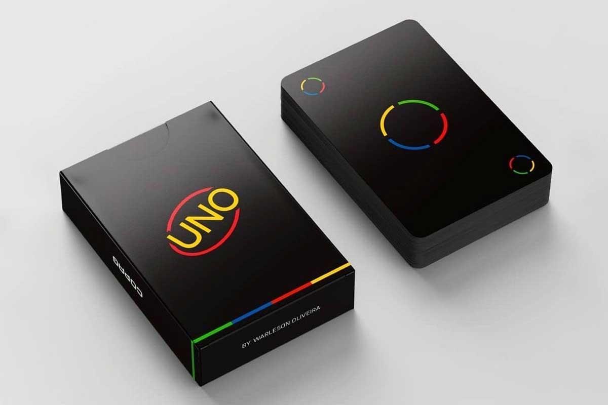 """Minimalistisches """"UNO""""-Kartendeck UNO-minimalista-reduziertes-design_06"""