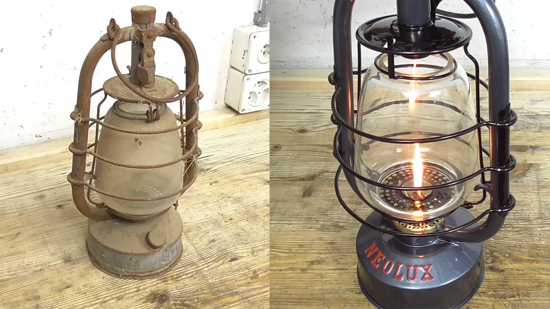 Restauration einer alten Öllampe