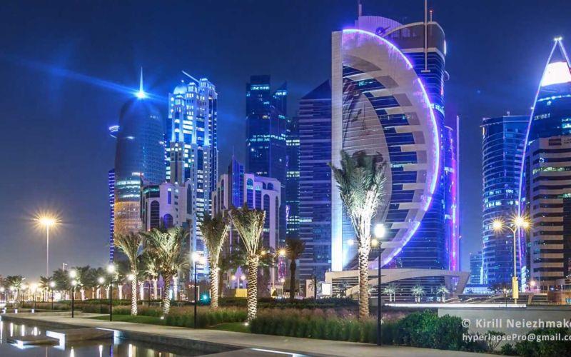 Hyperlapse-Video von Katar