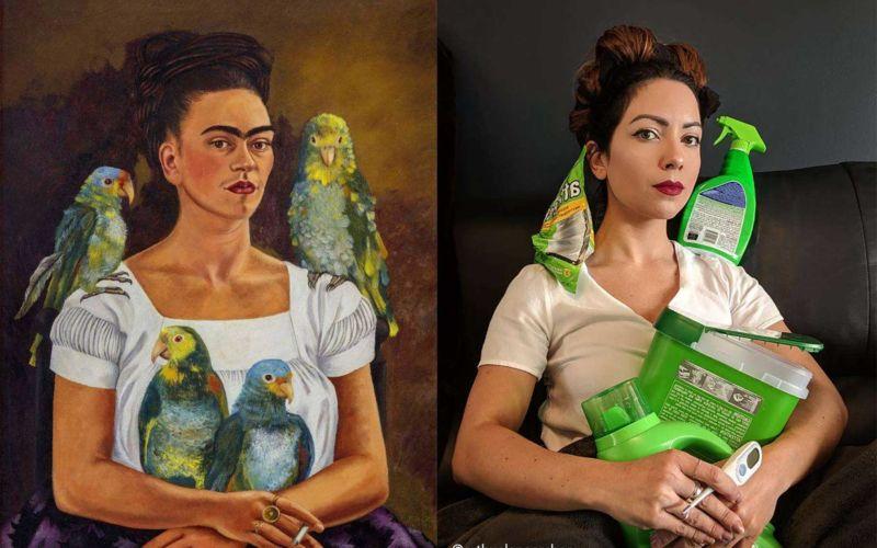 Getty Museum Challenge: Zuhause nachgestellte Kunstwerke