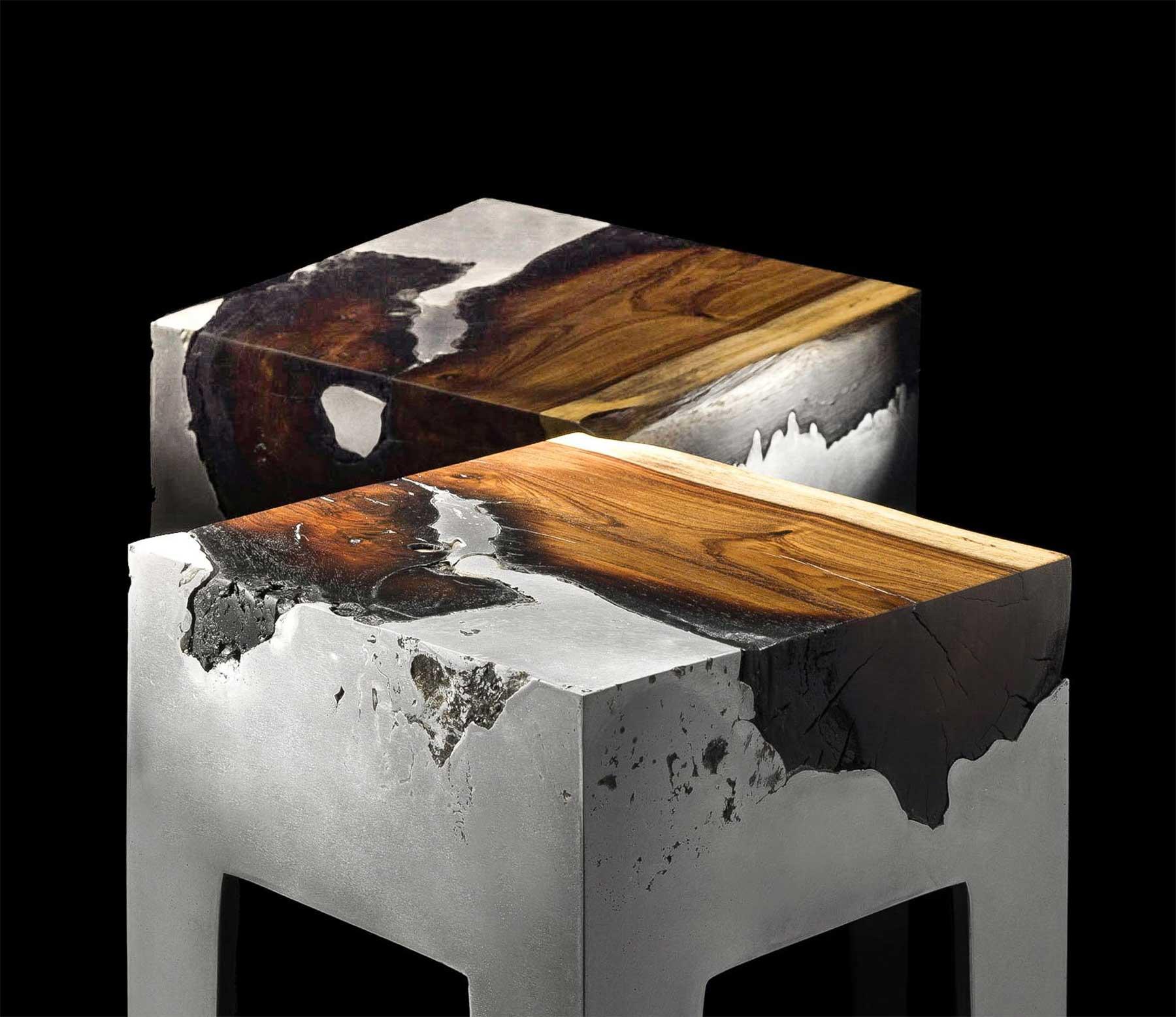 Aluminium-Holz-Möbel von Hilla Shamia