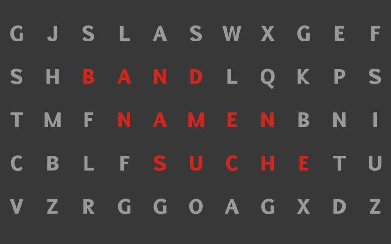 Wortsuche: Versteckte Bandnamen