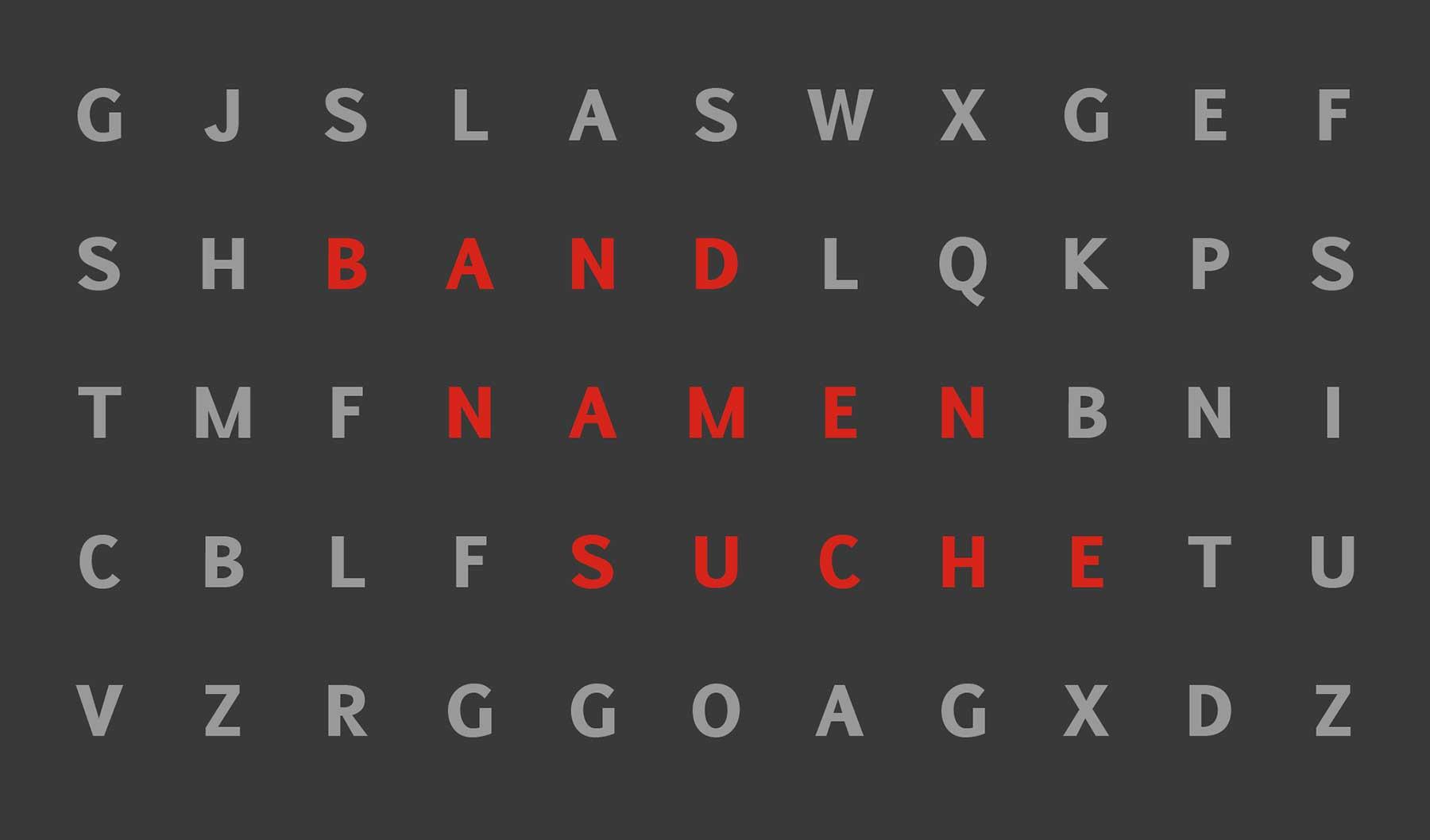 Wortsuche: Versteckte Bandnamen Wortsuche-Raetsel_00