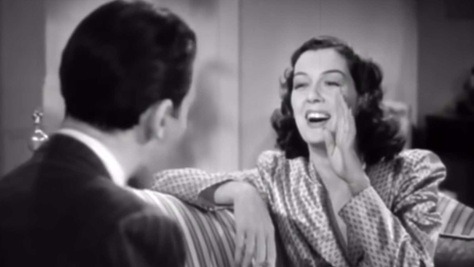 Outtakes aus alten Schwarz-Weiß-Filmen und -Serien