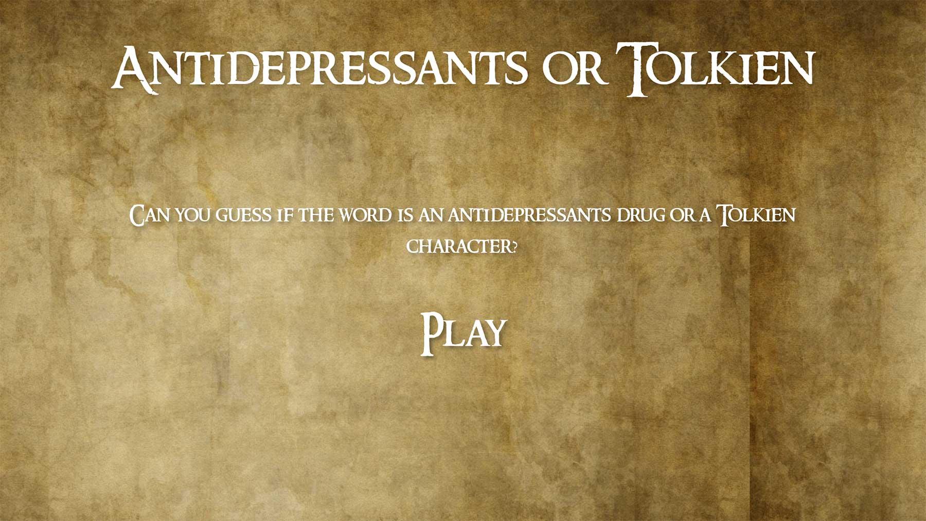 Quiz: Antidepressivum oder Tolkien-Figur?