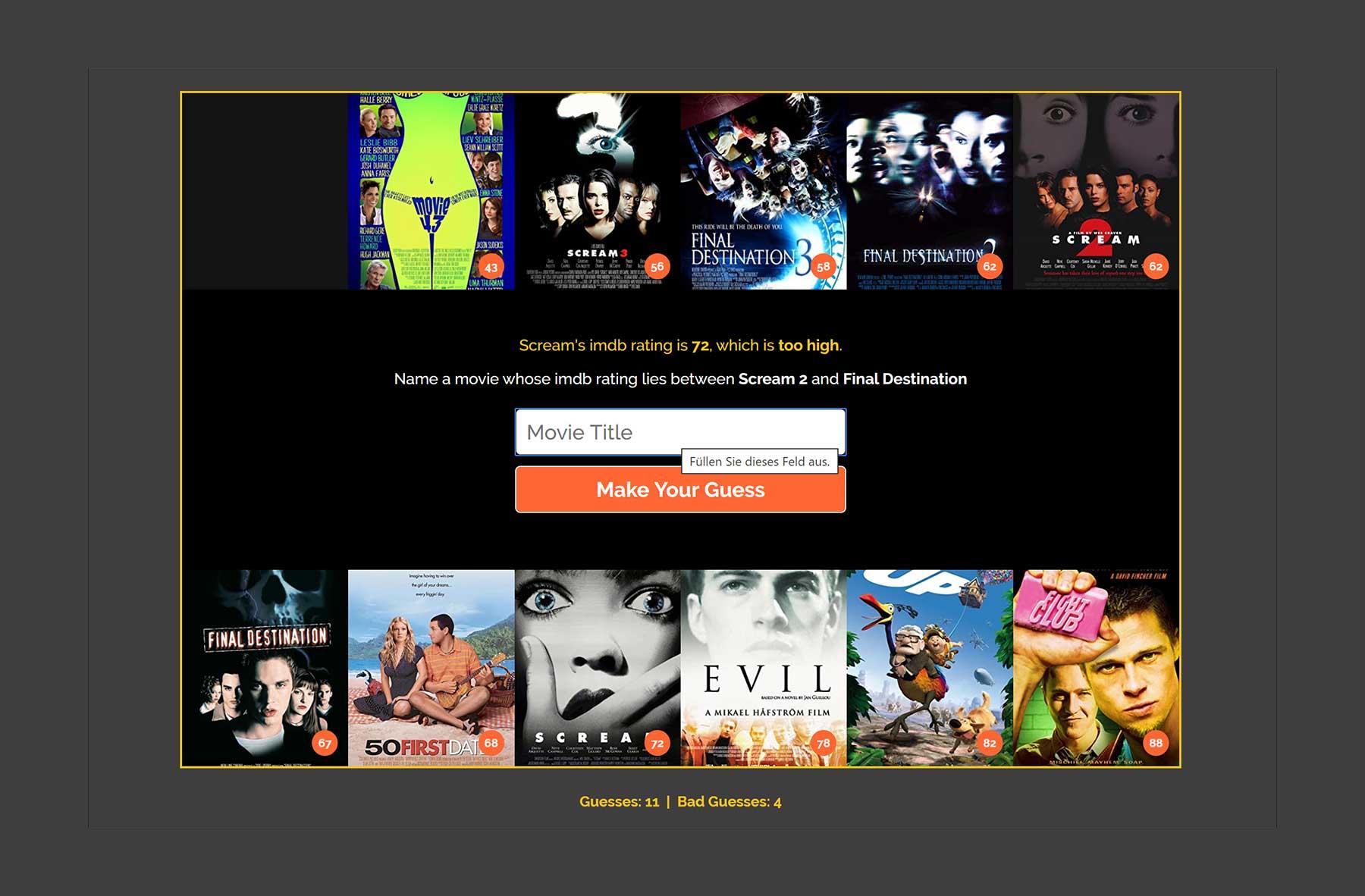 Könnt ihr IMDb-Ratings von Filmen richtig einschätzen?