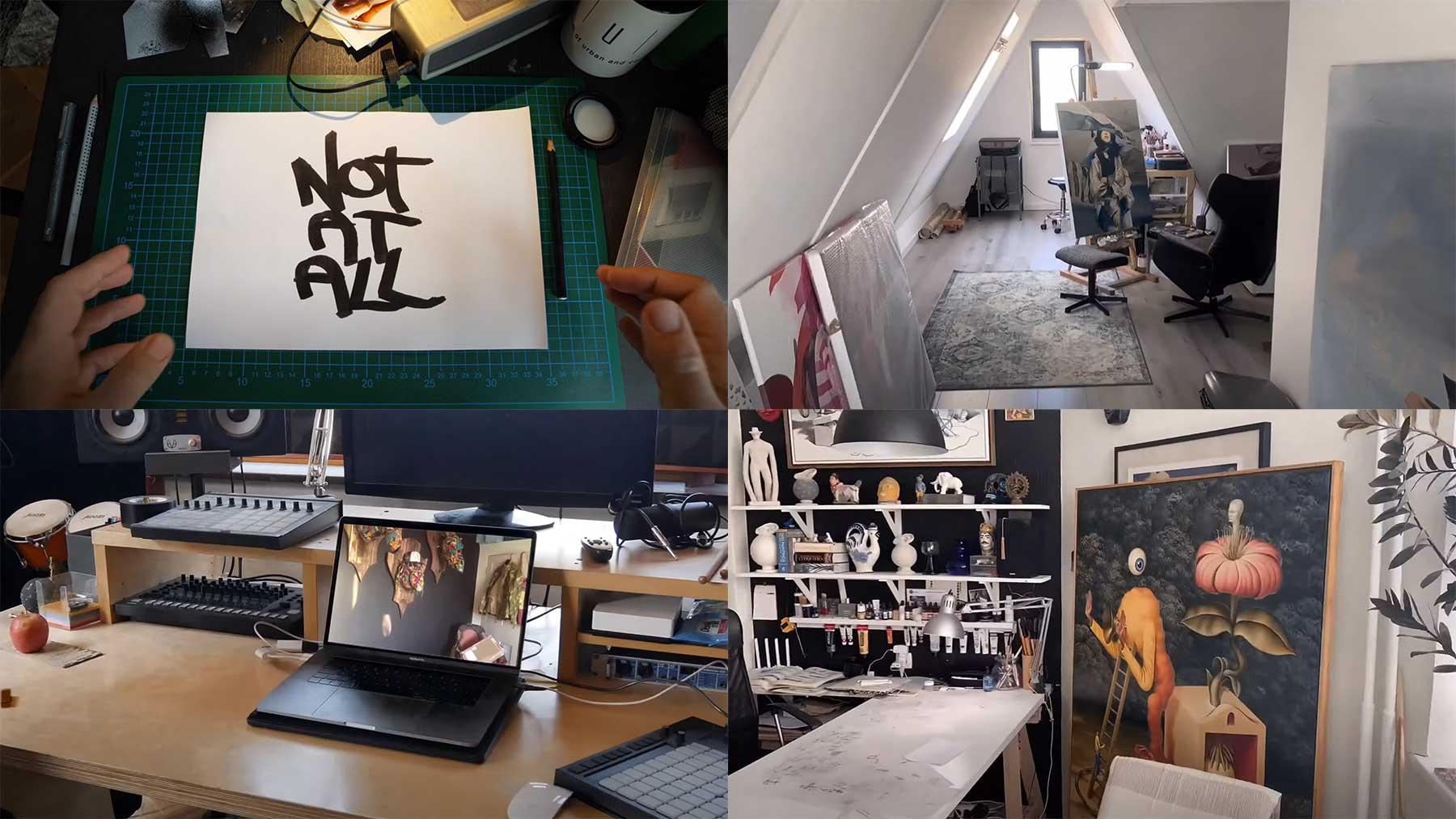Stopmotion-Tour durch die Ateliers von 37 KünstlerInnen