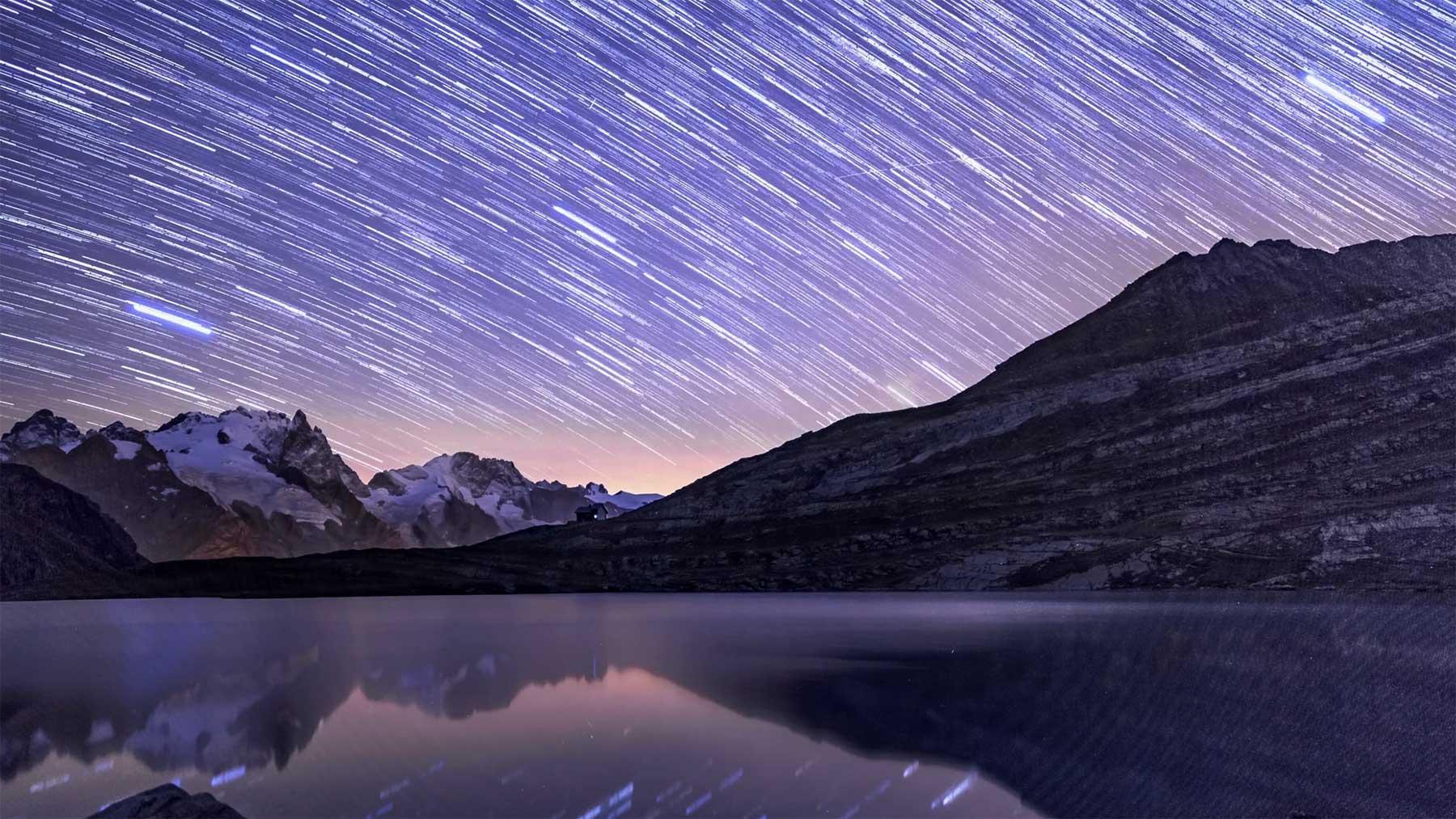 """Nachthimmel-Timelapse: """"La Meije"""""""