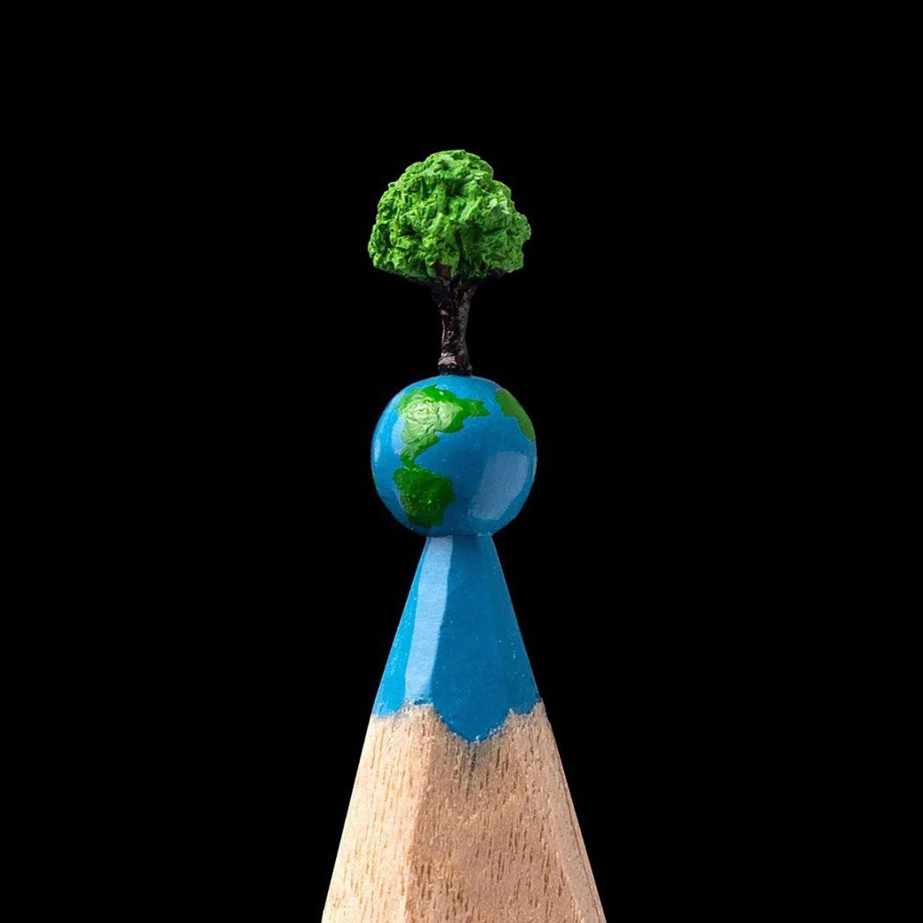 Miniatur-Skultpuren aus Stiftminen von Salavat Fidai minen-miniatur-skulpturen-Salavat-Fidai_08