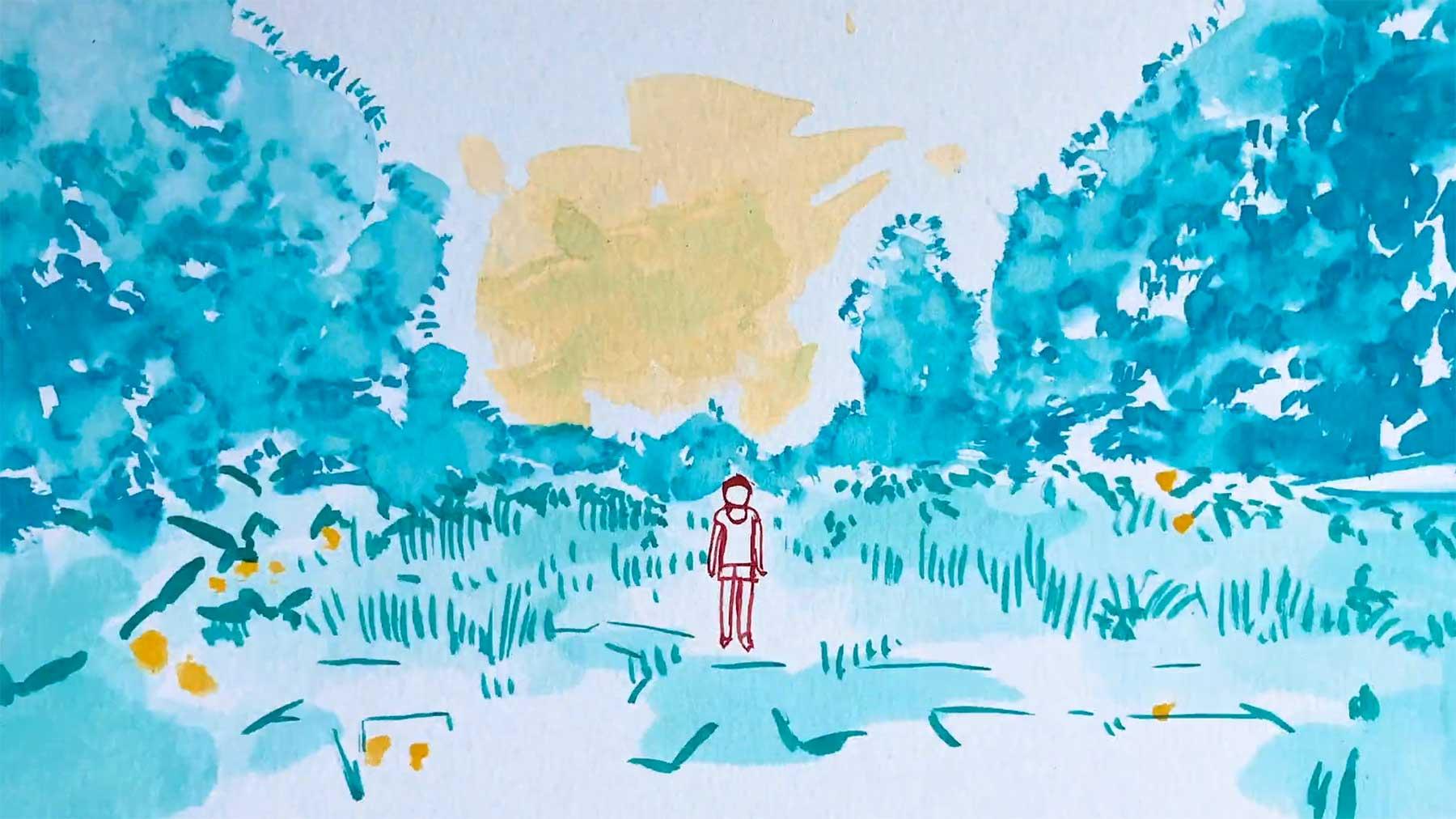 Musikvideo aus hunderten gemalten Bildern