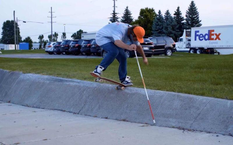 Blind Skateboarden lernen