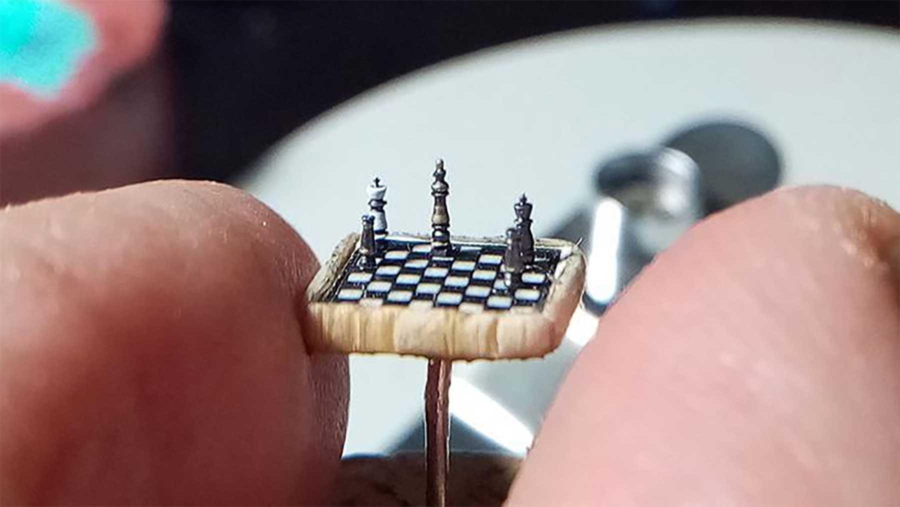 Das ist ein Brett: Kleinstes Schachspiel der Welt