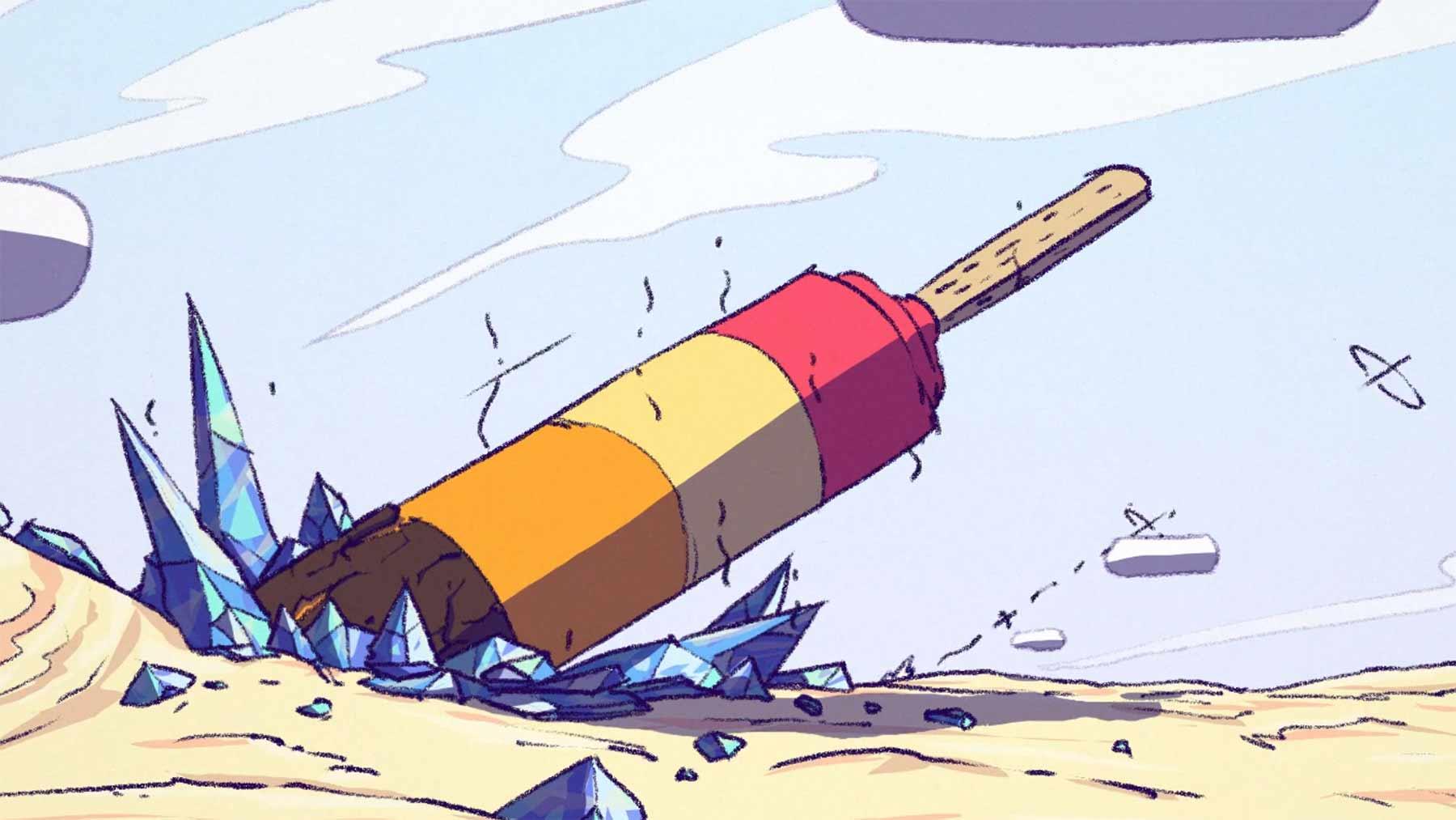 Eis-am-Stiel-Rakete