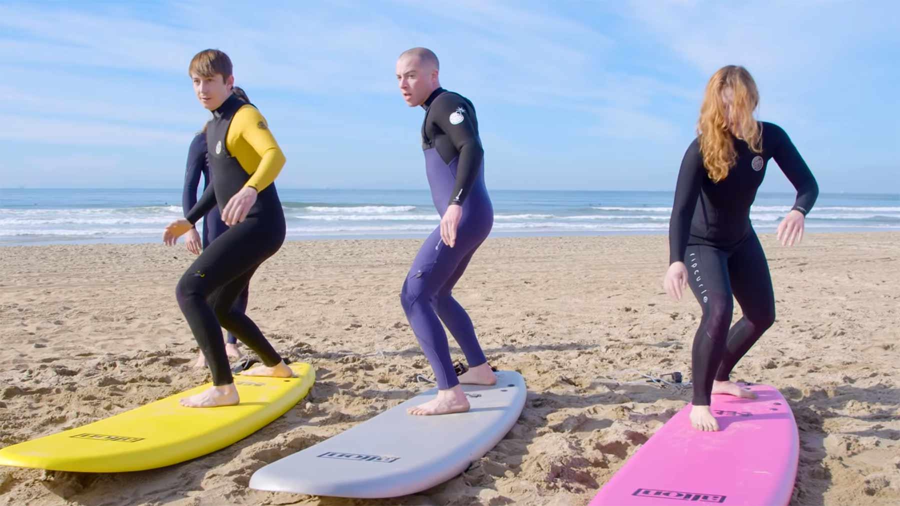 SurferInnen tauschen mit SnowboarderInnen