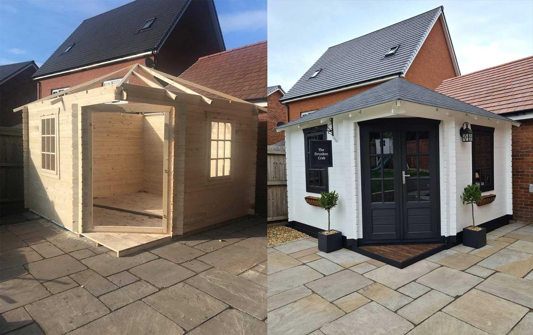 DIY-Mini-Pub im eigenen Garten gebaut