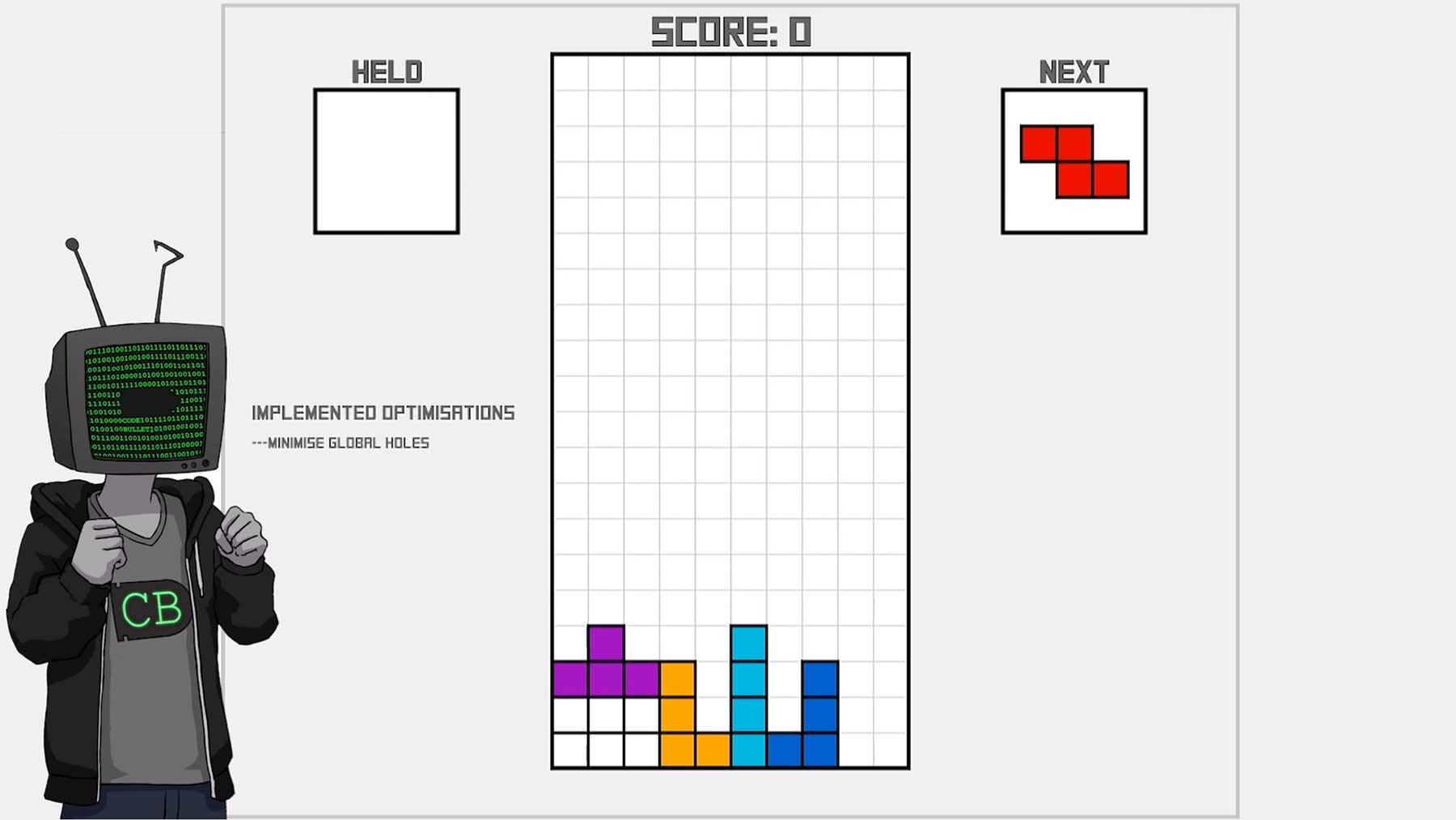 """Code Bullet spielt """"Tetris"""" mit künstlicher Intelligenz"""
