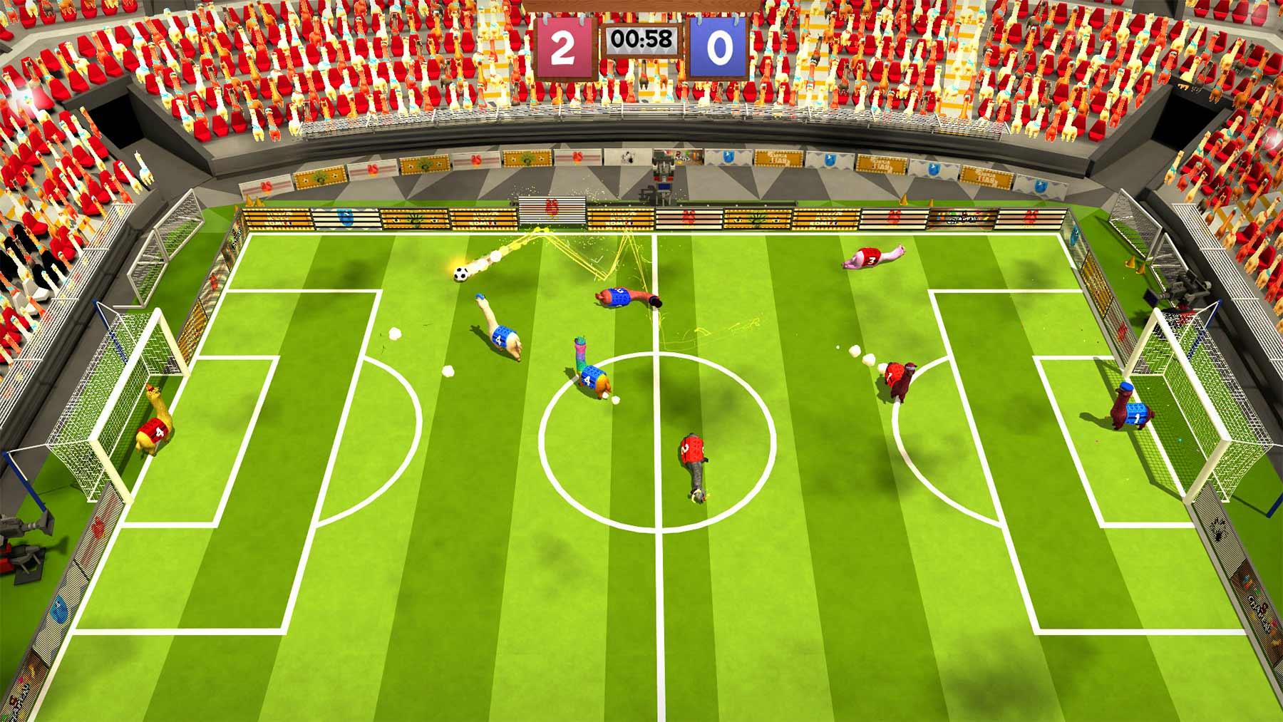 """Fußball mit Alpakas spielen: """"Alpaca Ball: Allstars"""""""