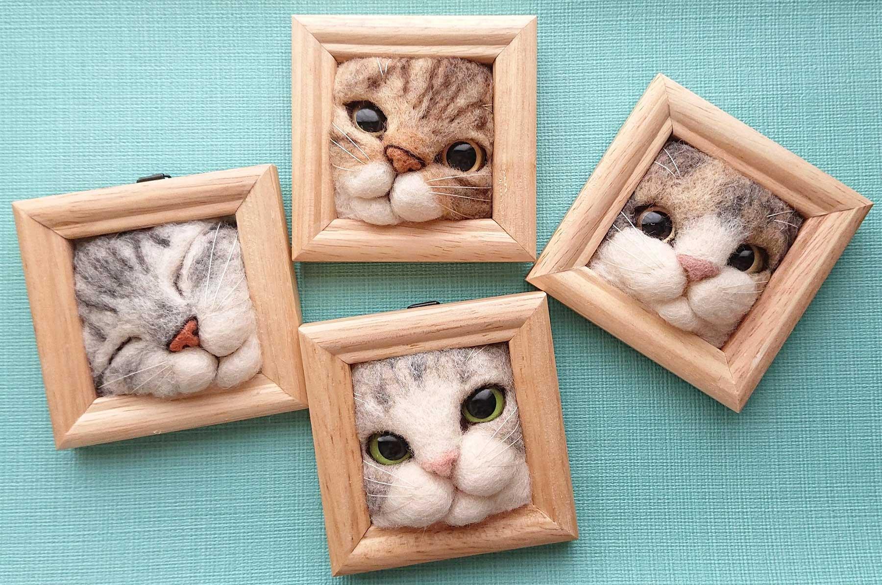 Süße Filz-Katzen von Fujita Satomi Fujita-Satomi_filzfiguren_00