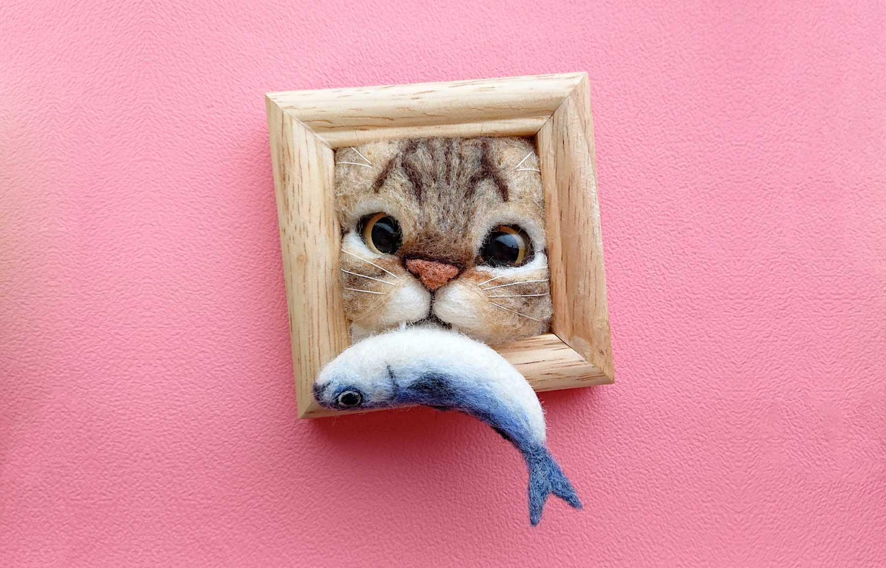 Süße Filz-Katzen von Fujita Satomi Fujita-Satomi_filzfiguren_01