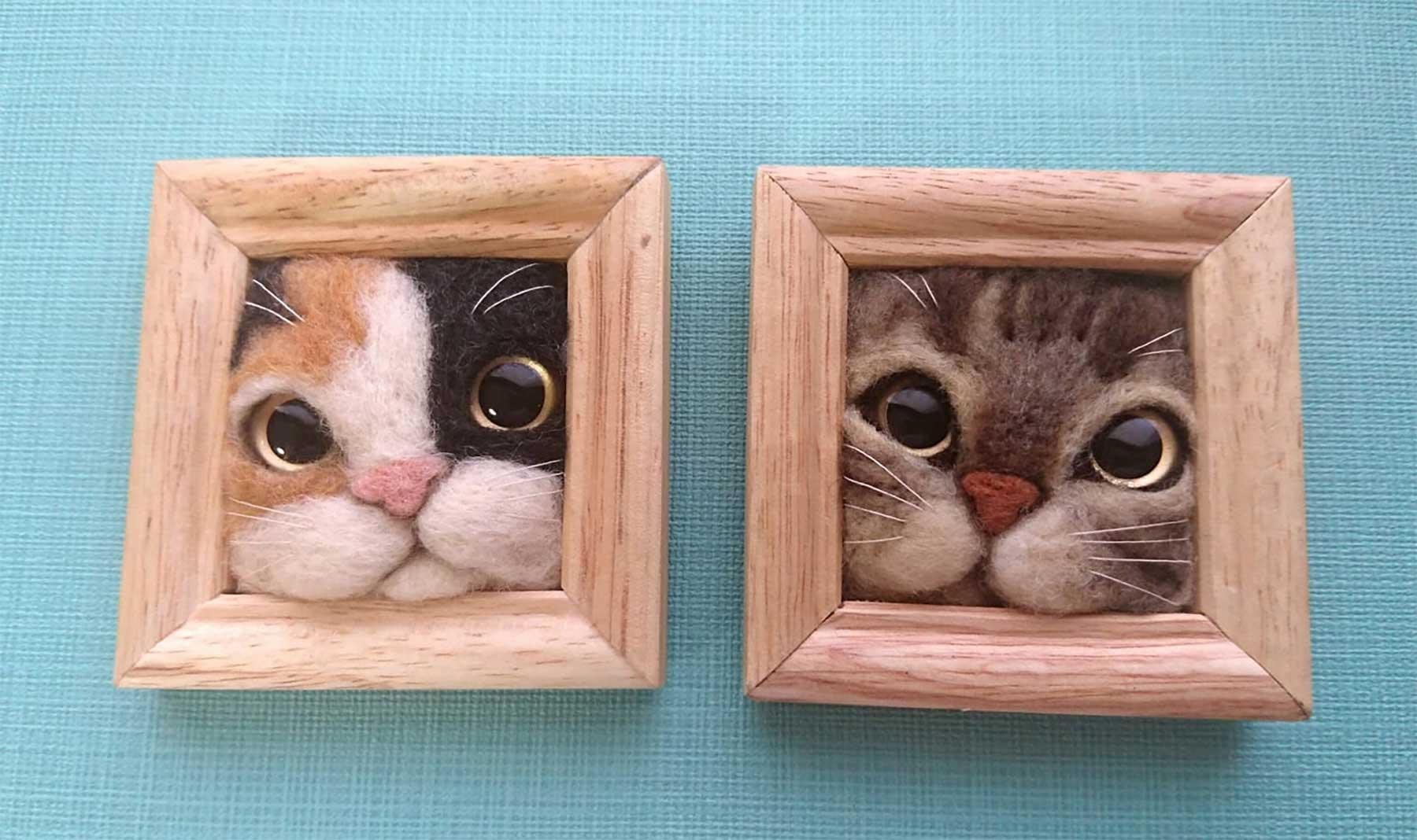 Süße Filz-Katzen von Fujita Satomi Fujita-Satomi_filzfiguren_02