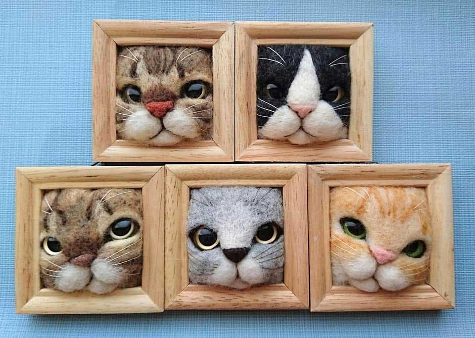 Süße Filz-Katzen von Fujita Satomi Fujita-Satomi_filzfiguren_03