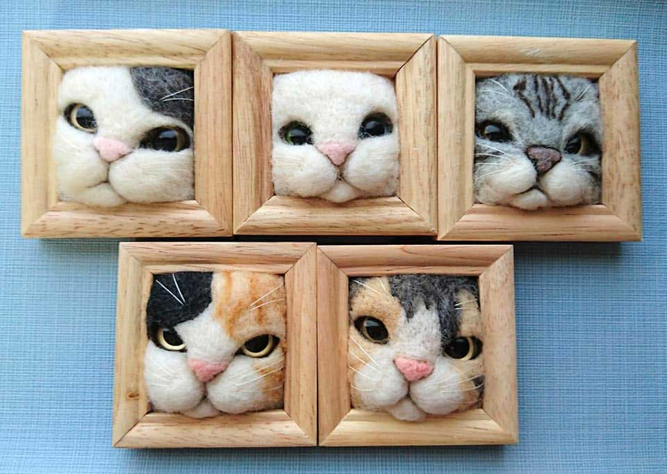 Süße Filz-Katzen von Fujita Satomi Fujita-Satomi_filzfiguren_04
