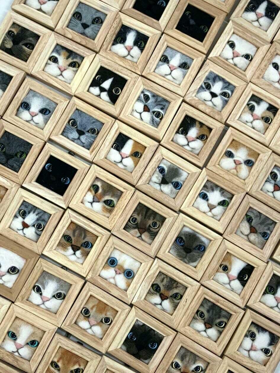 Süße Filz-Katzen von Fujita Satomi Fujita-Satomi_filzfiguren_05