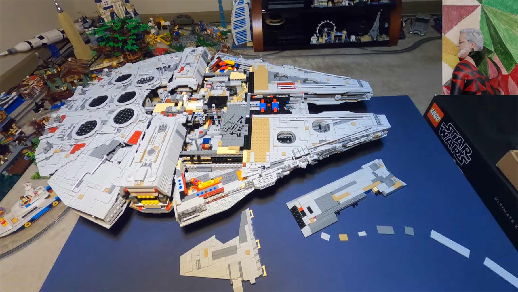 LEGO Millenium Falcon baut sich selbst zusammen LEGO-Millenium-Falcon-stopmotion-video
