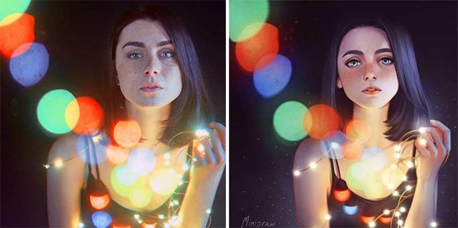 Fotograf Mathieu Stern bat Digital Artists, seine Portraits nachzumalen Mathieu-Stern-drawthisinyourstyle-challenge_02
