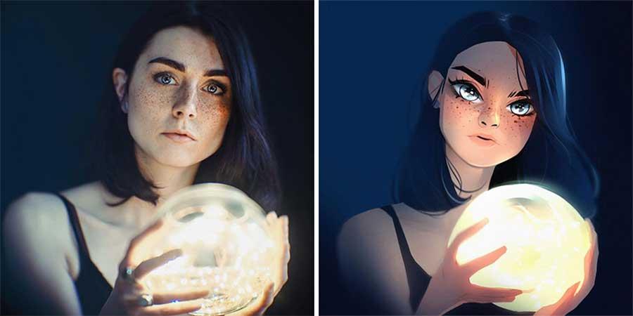 Fotograf Mathieu Stern bat Digital Artists, seine Portraits nachzumalen Mathieu-Stern-drawthisinyourstyle-challenge_04
