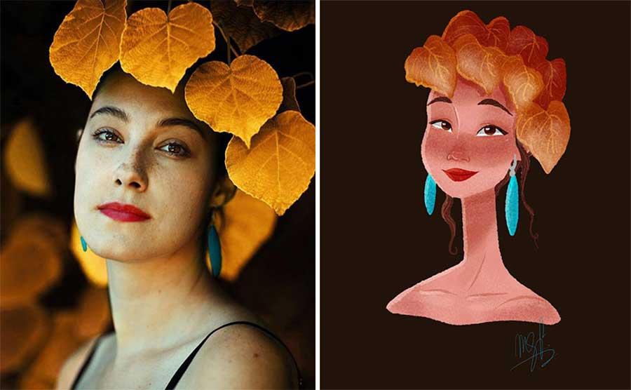 Fotograf Mathieu Stern bat Digital Artists, seine Portraits nachzumalen Mathieu-Stern-drawthisinyourstyle-challenge_05