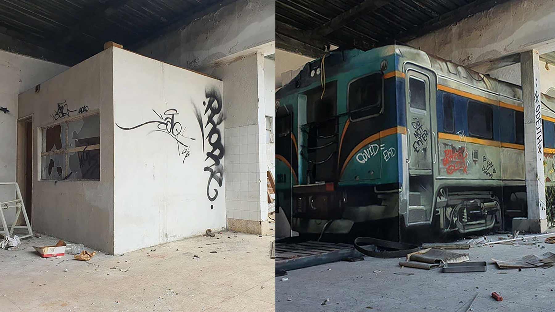 Neue 3D-Graffiti-Transformation von Odeith